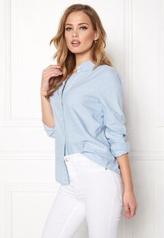 Pieces Irena LS Oxford Shirt Kentucky Blue Bubbleroom.dk