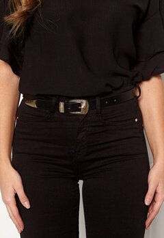 Pieces Janey Jeans Belt Black/Gold Bubbleroom.dk