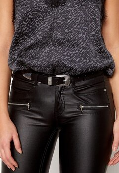 Pieces Janey Jeans Belt Black/Silver Bubbleroom.dk