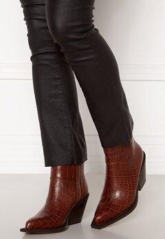 Pieces Jean Leather Boot Cognac Bubbleroom.dk
