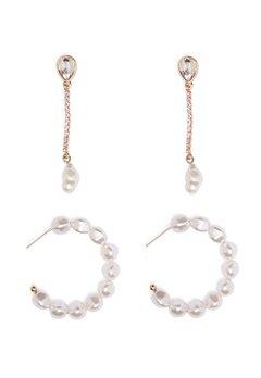Pieces Josephine 2-Pack Earrings Gold Colour Bubbleroom.dk