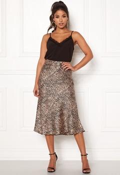 Pieces Kaia Skirt Black/Leopard Bubbleroom.dk