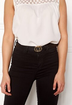 Pieces Karren Jeans Belt Black-Gold Bubbleroom.dk
