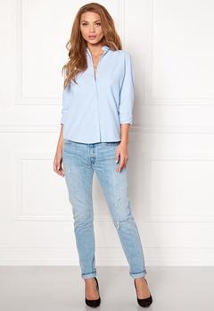 Pieces Katie Shirt Faded Blue Bubbleroom.dk