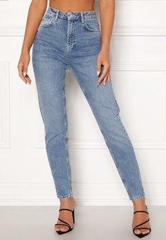 Pieces Leah Mom HW Ankle Jeans Light Blue Denim Bubbleroom.dk