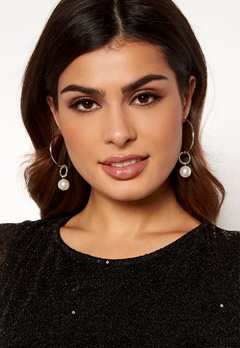 Pieces Lemara Creol Earrings Silver Bubbleroom.dk