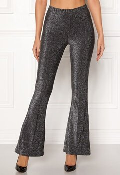 Pieces Liza Lurex Flared Pants Black Bubbleroom.dk