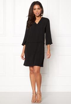 Pieces Madison 3/4 Dress Black Bubbleroom.dk