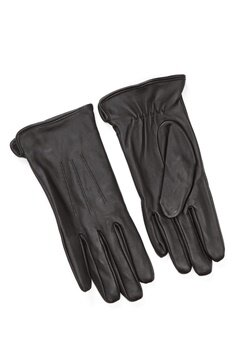 Pieces Nellie Leather Glove Black Bubbleroom.dk