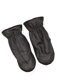 Pieces Nellie Leather Mittens Black Bubbleroom.dk