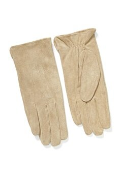 Pieces Nellie Suede Gloves Natural Bubbleroom.dk