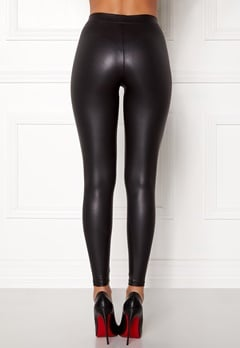 Pieces New Shiny Leggings Black Bubbleroom.dk