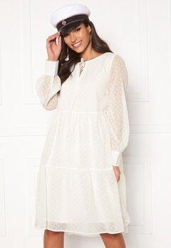 Pieces Noan LS Dress Bright White Bubbleroom.dk