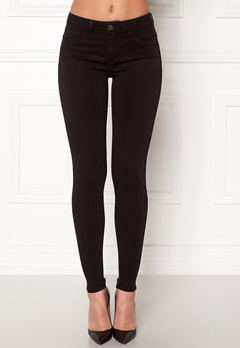 Pieces Shape-up Jeggings Black Bubbleroom.dk