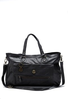 Pieces Totally Royal Travel Bag Black Bubbleroom.dk
