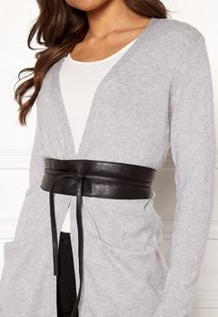 Pieces Vibs Leather Waist Belt Black Bubbleroom.dk