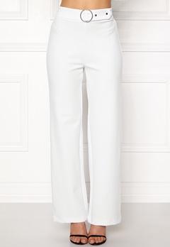 Pieces Vicca HW Vide Pants Bright White Bubbleroom.dk