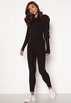 Girl In Mind Piper Ribbed Loungewear Set Black Bubbleroom.dk
