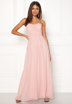 New Look Plain Bandeau Maxi Dress Shell Pink Bubbleroom.dk