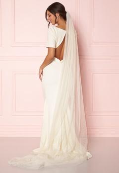Zetterberg Couture Plain Veil Long 250 cm Creme Bubbleroom.dk