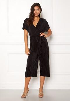 New Look Plain Wrap Jumpsuit Black Bubbleroom.dk
