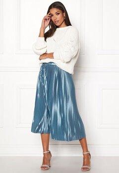ICHI Pleat Skirt Blue Shadow Bubbleroom.dk