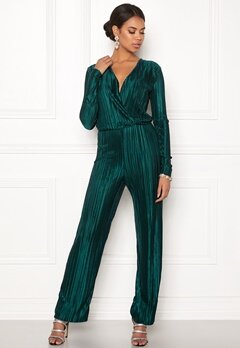 Rut & Circle Pleated Jumpsuit Dark Green Bubbleroom.dk