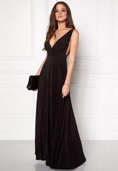 Goddiva Pleated Oscar Dress Black Bubbleroom.dk