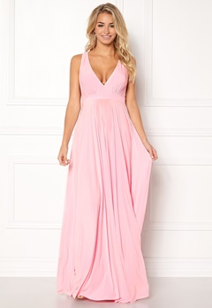Goddiva Pleated Oscar Dress Pink Bubbleroom.dk