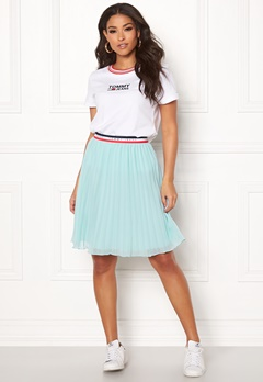 TOMMY JEANS Pleated Skirt 407 Canal Blue Bubbleroom.dk
