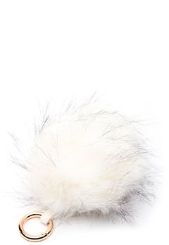 ROCKANDBLUE Pom Pom Charm Faux Fur 8010 Bleached/Gold Bubbleroom.dk
