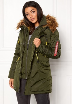 Alpha Industries PPS N3B Wmn Jacket Dark Green Bubbleroom.dk