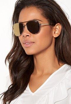 Quay Australia High Key Mini Sunglasses Gold/Gold Mirror Bubbleroom.dk