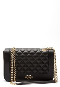 Love Moschino Quilted Big Chain Bag Black/Gold Bubbleroom.dk