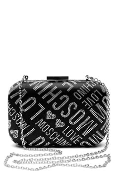 Love Moschino Quilted Small Bag Silver Bubbleroom.dk