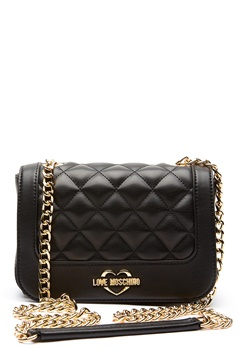 Love Moschino Quilted Small Chain Bag Black/Gold Bubbleroom.dk