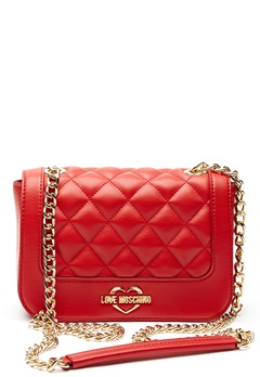 Love Moschino Quilted Small Chain Bag Red Bubbleroom.dk