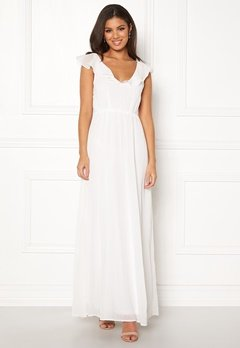 VILA Rannsil S/L Maxi Dress Cloud Dancer Bubbleroom.dk