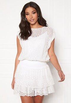 Ravn Bee Dress White Bubbleroom.dk