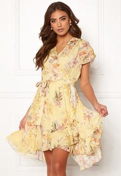Ravn Belly Dress Yellow Flower Bubbleroom.dk