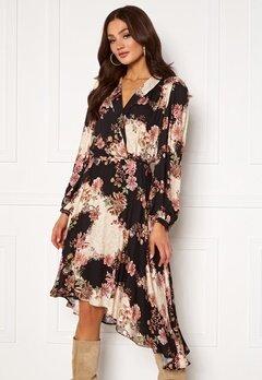 Ravn Regina Dress Flowerprint Black Bubbleroom.dk