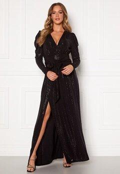 Ravn Tuesday Dress Black Sequin Bubbleroom.dk