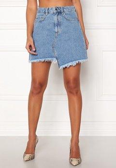 Ivyrevel Raw Edge Denim Skirt Blue Bubbleroom.dk