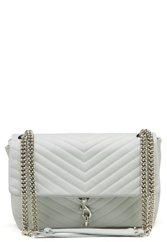 Rebecca Minkoff Edie Flap Shoulder Bag Ice Blue Bubbleroom.dk