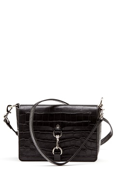 Rebecca Minkoff Map Flap Crossbody Bag Black Bubbleroom.dk