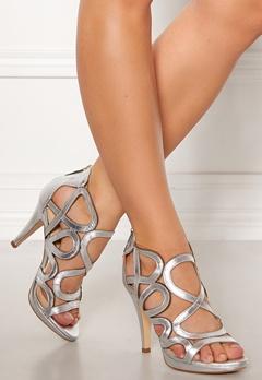 SARGOSSA Redefined Leather Heels Silver Bubbleroom.dk