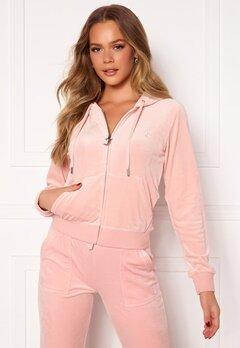 Juicy Couture Robertson Classic Velour Hoodie Pale Pink Bubbleroom.dk