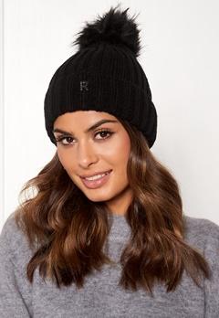 ROCKANDBLUE Hat Pom Pom Beanie Knit Black Bubbleroom.dk