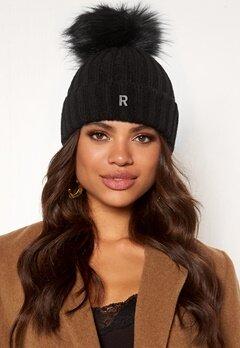 ROCKANDBLUE Hat Pom Pom Beanie Knit Black/Black Bubbleroom.dk