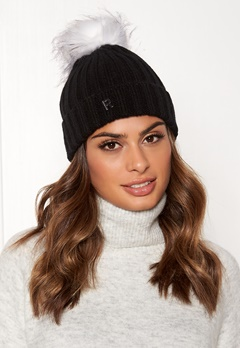 ROCKANDBLUE Hat Pom Pom Beanie Knit Black/Bleached Bubbleroom.dk